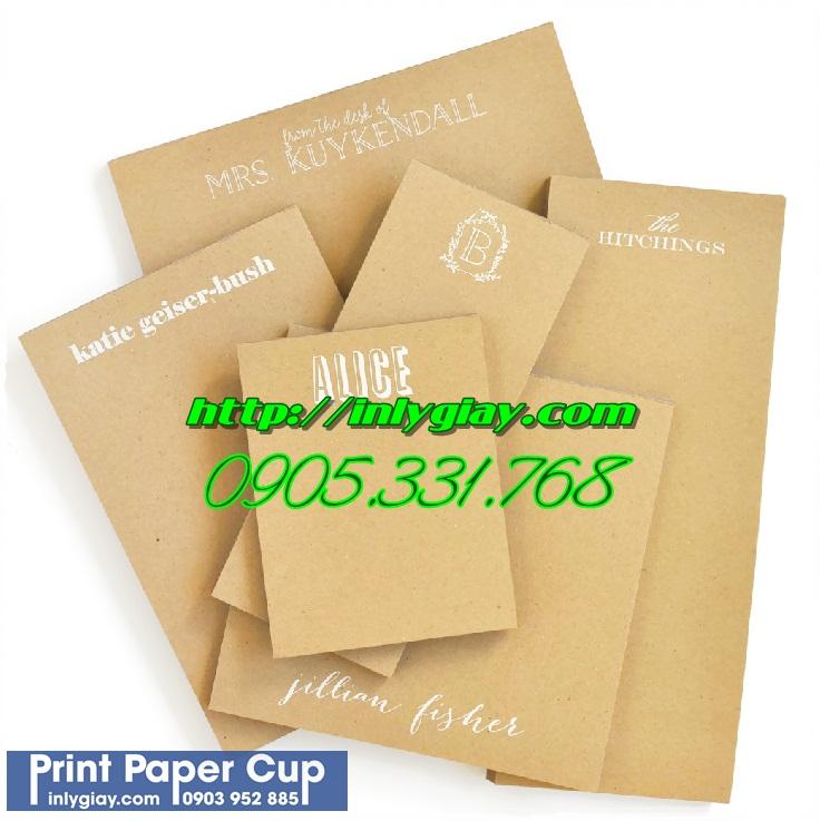 hand tag, name card, hop giay kraft, bia folder giay kraft, tui giay kraft