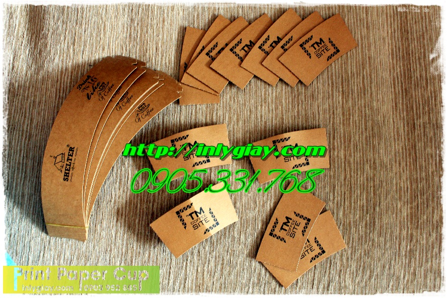 cover ly giay, slevee paper cup, tay cam nong lanh, tay cach nhiet cafe, tay quai chong nong