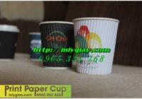 Ly giấy cao cấp có lớp chống nóng trên ly(ly giấy ripple)